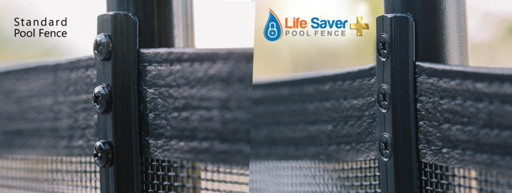 Life Saver removable mesh pool fence