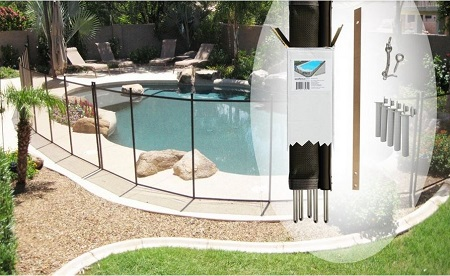 do-it-yourself pool fence