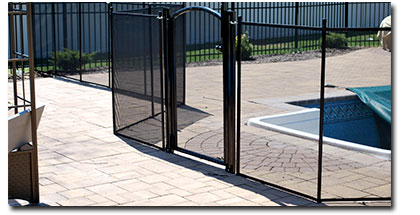 pool fence posts